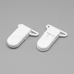 экологический пластиковый держатель для младенца, белый, 43x31x9 mm, отверстия: 4x26 mm(X-KY-R013-05)