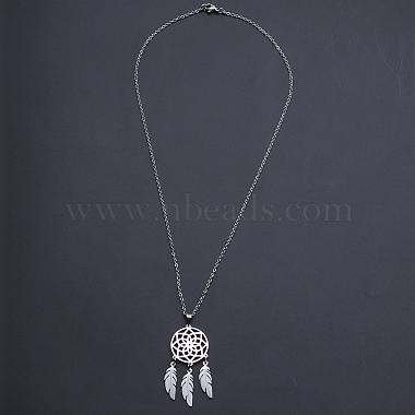 201 Stainless Steel Pendants Necklaces(NJEW-S105-JN727-45-1)-2