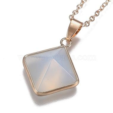 Opalite Pyramid Geometric Pendant Necklaces(NJEW-H204-01E)-3