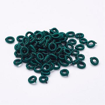 6mm Teal Ring Polyester Beads