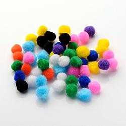 Poupée bricolage artisanat pom pom boules de pom pom, couleur mixte, 15mm, environ 1000 pcs / sachet (AJEW-S006-15mm-M)