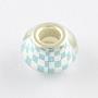 Aqua Rondelle Acrylic European Beads(OPDL-Q129-178A)