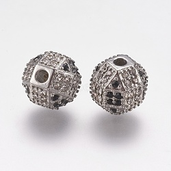 304 Stainless Steel Rhinestone Beads, Round, Stainless Steel Color, 10x10mm, Hole: 2mm(STAS-K171-41P)