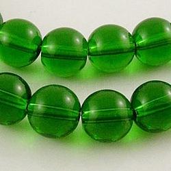 Круглые зеленые стеклянные бусины, диаметром около 4 мм , Отверстие : 4 мм; около 0.5 шт / нитка, 80(X-GR4mm18Y)