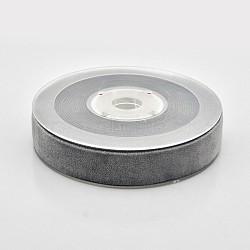 """Ruban de velours en polyester pour emballage de cadeaux et décoration de festival, grises , 3/4"""" (19 mm), environ 25yards / rouleau (22.86m / rouleau)(SRIB-M001-19mm-077)"""