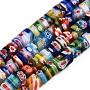 Colorful Column Millefiori Lampwork Beads(X-LAMP-S191-20)
