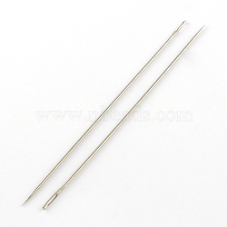 Stainless Steel Beading Needles Pins, Stainless Steel Color, 150x1.8mm, Hole: 7x1mm(NEED-R002-01)