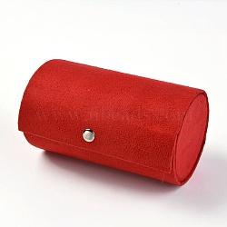 Présentoirs de bijoux, boîtes de pesentation, recouvert de velours et de panneaux de fibres, rouge, 13.5x7.5 cm(ODIS-TAC0001-01D)