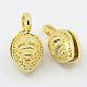 Real 20K Gold Plated Brass Buddhist Pendants(KK-K090-03G)-1
