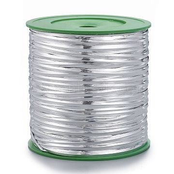 Wire Twist Ties, with Iron, Silver, 4mm, 280yards/roll(OCOR-R003-1)