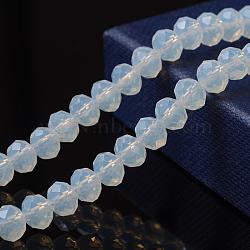 """1 rangée de perles opalite facettées, 6x4mm, trou: 1mm; environ 95 pcs/chapelet, 16.9""""(X-EGLA-F045C-01)"""