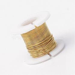 Copper Jewelry Wire, Gold, 24 Gauge, 0.5mm; 18m/roll(CWIR-R004-0.5mm-10)