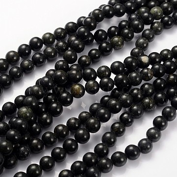 Natural Serpentine/Green Lace Stone Beads Strands, Round, Olive Drab, 8mm, Hole: 1mm, about 45pcs/strands, 15 inches(X-GSR8mmC146)