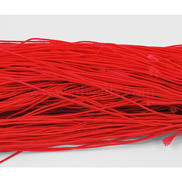 Elastic Cord, Red, about 1mm thick, about 25.15~27.34 yards(23~25m)/bundle(X-YRB1MM-2)