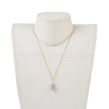 Natural Quartz Pendant Necklaces(NJEW-JN02599-05)-4