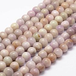 "Chapelets perles en kunzite/spodumène naturelle, rond, 8mm, trou: 1mm; environ 49 pcs/chapelet, 15.1""(G-F364-10-8mm)"