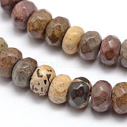 """Facettes naturelles mookaite rondelle perles brins, 8x5mm, trou: 1mm; environ 76 pcs/chapelet, 15.2""""(G-K090-08)"""
