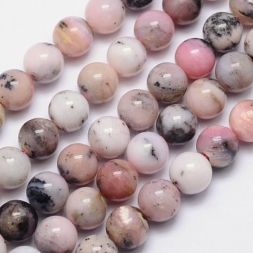 12mm Round Pink Opal Beads