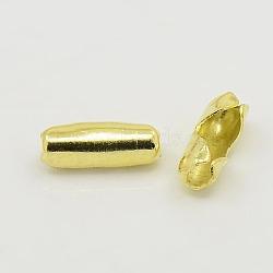 Connecteur de chaîne à billes en laiton, non plaqué, sans nickel, 3.5 mm de diamètre, 9 mmm longue, 3 mm de diamètre intérieur , trou: environ 2 mm(EC007Y)