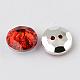 2-Hole Taiwan Acrylic Rhinestone Flat Round Buttons(X-BUTT-F015-33mm-M)-2