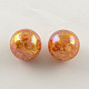 AB Color Transparent Crackle Round Acrylic Beads(CACR-S006-11)-1
