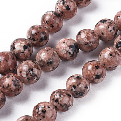 Natural Labradorite Beads Strands, Dyed & Heated, Round, BurlyWood, 8mm, Hole: 1.2mm; about 47pcs/strand, 14.9''(38cm)