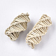 Handmade Reed Cane/Rattan Woven Beads(WOVE-T006-028A)-2