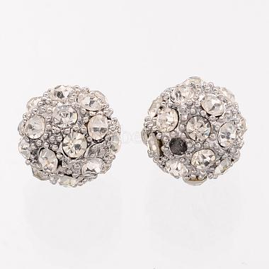 Platinum Alloy Rhinestone Round Beads(X-ALRI-Q212-1)-2