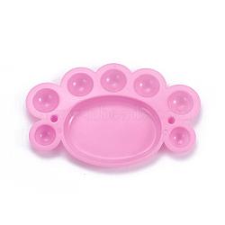 Palette d'huile aquarelle en plastique, pieds de bébé, rose, 165x102x11mm(AJEW-L072-B01)