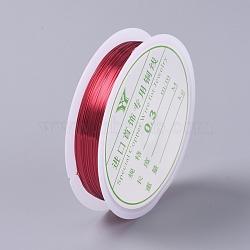 fil de cuivre, pour la fabrication de bijoux, cramoisi, Jauge 30, 0.3 mm, sur 25 m / rouleau(CWIR-CJC0001-03)