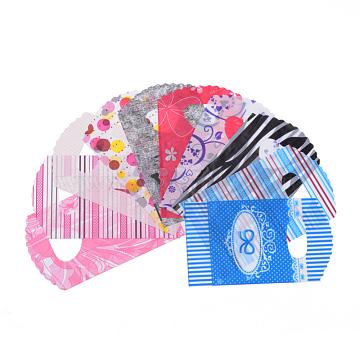 Sacs d'emballage en plastique, Matériau PE, couleur mixte, 14.5x8.5 cm(T02FU071)