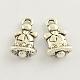 Christmas Bell Tibetan Style Zinc Alloy Charms(X-TIBEP-Q033-86)-1