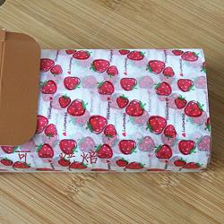 Papier d'emballage de gâteau alimentaire jetable, papier sulfurisé, style fraise, colorées, 25x21.8cm; 50pcs / boîte(DIY-L009-A05)