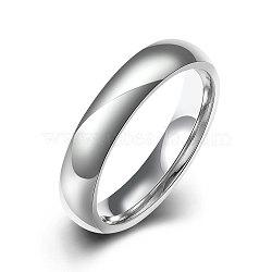 Модные 316л титана стали кольца перста для женщин, цвет нержавеющей стали, Размер 9, 18.9 мм(RJEW-BB07173-9)