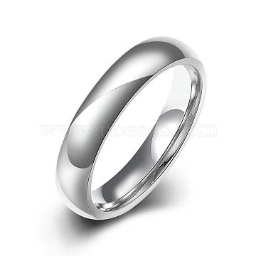 Fashionable 316L Titanium Steel Finger Rings for Women, Stainless Steel Color, US Size 9(18.9mm)(RJEW-BB07173-9)