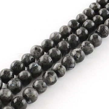 Natural Labradorite Round Bead Strands, 10mm, Hole: 1mm, about 38pcs/strand, 14.9 inches(X-G-R342-10mm-09)