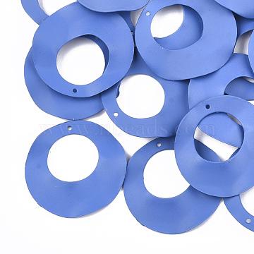 Spray Painted Iron Pendants, Ring, Cornflower Blue, 33x3mm, Hole: 1mm(X-IFIN-S704-14D)