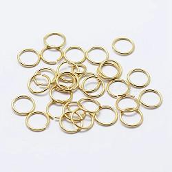 925 anneaux de saut ouverts en argent sterling, anneaux ronds, or, 4x1 mm; diamètre intérieur: 1 mm; sur 133 pcs / 10 g(STER-F036-02G-1x4mm)