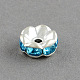 Brass Grade A Rhinestone Bead Spacers(X-RB-S033-A)-2