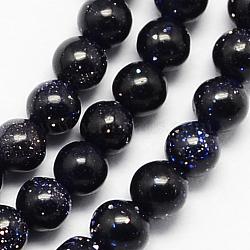 synthétiques brins de perles de goldstone bleu, arrondir, 2 mm, trou: 0.5 mm; environ 204 perle / brin, 15.3(X-G-R172-2mm-14)
