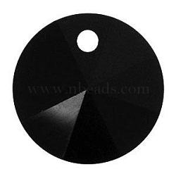 cristal autrichien, 6428 xilion pendentif rivoli, 280 _jet, taille: environ 6 mm de diamètre(X-SWAR-6428-6MM-280)