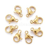 Golden Stainless Steel Clasps(X-STAS-H352-01C-G)