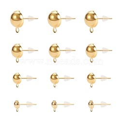 Accessoires de clou d'oreille en fer, avec écrous d'oreille en plastique / dos de boucle d'oreille, or, 74x73x25mm(IFIN-PH0023-59G)