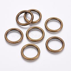 Anneaux de liaison en plastique CCB, bronze antique, 25x3.5mm(CCB-J027-37AB)