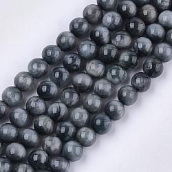 """Chapelets de perles en pierre naturelle d'œil d'aigle, Grade a, rond, 8mm, trou: 1mm; environ 23~25 pcs/chapelet, 7.6""""(X-G-S333-8mm-027)"""