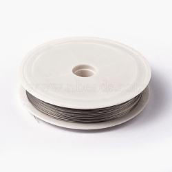 Tiger Tail Wire, Nylon-coated Stainless Steel, Silver, 0.38mm, 50m/roll(X-L0.38mm01)