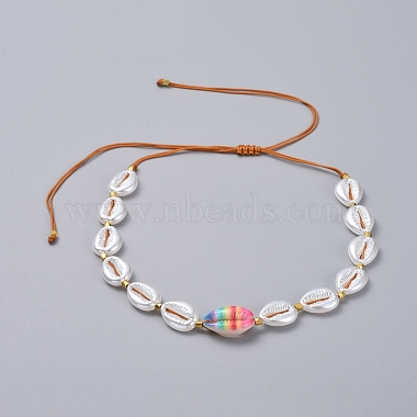 Adjustable Nylon Thread Braided Necklaces(NJEW-JN02706-M)-2