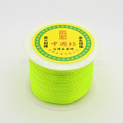 Round String Thread Polyester Fibre Cords, GreenYellow, 2mm, about 50m/roll(OCOR-J001-03)