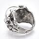 Adjustable Alloy Glass Finger Rings(RJEW-T006-02B)-3