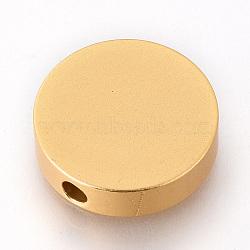 Eco-Friendly Aluminium Beads, Laser Cut Beads, Flat Round, Gold, 25x7mm, Hole: 4mm(ALUM-Q001-38A)